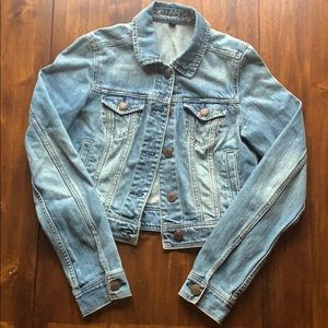 American Eagle Denim Crop Jacket